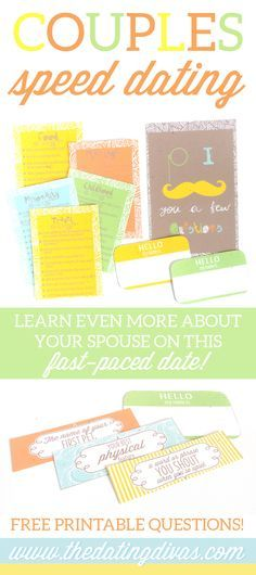 Dating Quick and easy questions to go on a speed date with your spouse! Printables designed by Quick and easy questions to go on a speed date with your spouse! Printables designed by Marriage Advice, Love And Marriage, Dating Advice, Romantic Dates, Romantic Ideas, Romantic Gifts, Speed Dating, Dating Questions, Dating Divas