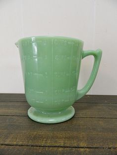 Vintage Jadeite 4 Cup Measuring Pitcher Vintage by SalvagedAngels
