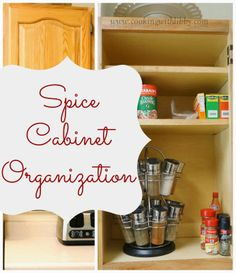 Cooking With Libby: Spice Cabinet Organization