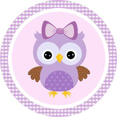 Convite Adesivo Quadrado Adesivo redondo Bala Personalizada Rótulo Bis (Frente) Co. Owl Labels, Owl Wallpaper, Candy Bar Labels, Owl Classroom, Owl Bags, Purple Owl, Felt Owls, Owl Pictures, Owl Patterns
