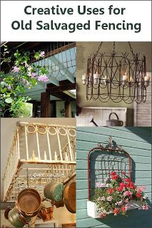 using iron bed frame for fence gate.from Dishfunctional Designs: Don't Fence Me In: Creative Uses for Old Salvaged Fencing Diy Projects To Try, Home Projects, Upcycling Projects, Repurposed Furniture, Diy Furniture, Repurposed Items, Diy Home Decor Rustic, Do It Yourself Inspiration, Diy Casa
