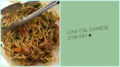 The Food Diaries: Low Calorie Chicken Stir-Fry