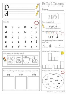 Daily Literacy Morning Work (Sight Words / Beginning Sounds / Reading). So many skills on one sheet!