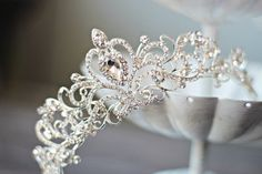 Swarovski Crystal Bridal Tiara FAITH Heart by EdenLuxeBridal