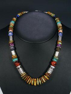 Tommy Singer Navajo Jewelry Necklaces and Pendants Navajo Jewelry, Southwest Jewelry, Tribal Jewelry, Turquoise Jewelry, Boho Jewelry, Jewelry Crafts, Jewelry Art, Beaded Jewelry, Jewelery