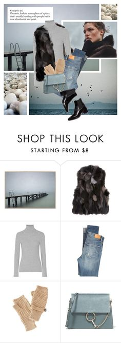 """""""Winter sea"""" by magdafunk ❤ liked on Polyvore featuring Denham, Barneys New York, James Perse, Citizens of Humanity, Charlotte Russe and Chloé"""
