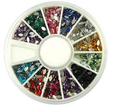 1-Sets Important Popular 3D Acrylic Nail Art Wheels Tools Kit Case Fashion Salon Supplies Color Style Glitter Oval ** Check out this great product.