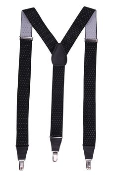 JINIU Men's Fashion Solid Straight Clip On Cool Formal Leather connector Elastic Suspenders Sale:$12.99 & FREE Shipping on orders over $49. FREE Returns. Details You Save:$37.00 (74%) Size: One Size Size Chart Color: Black Polka