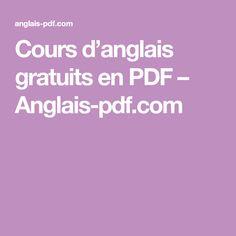 Cours d'anglais gratuits en PDF – Anglais-pdf.com