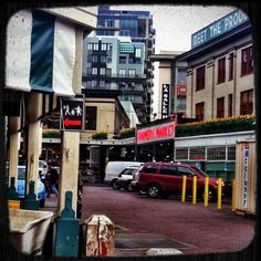 Hello Pike Place Market. Aren't you gorgeous today! #Seattle #photography #sites #lovethistown