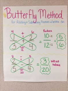 13 Adding and Subtracting Fractions Worksheets Adding and subtracting fractions with unlike denominators butterfly method fractions math anchorchart mathtutor The youngsters can enjoy Number Worksheets, Math Worksheets, Alphabet Worksheets. Math For Kids, Fun Math, Math Activities, Math Worksheets, Math Math, Math Help, Adding And Subtracting Fractions, Math Fractions, Simplifying Fractions