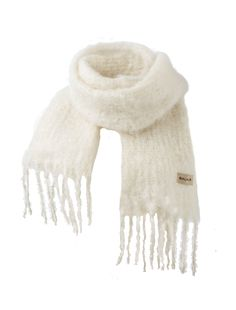 Kid mohair scarf fashion, 35x160cm, ivory