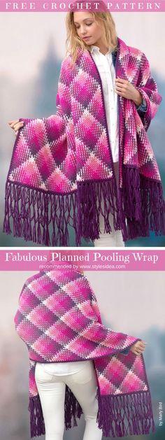 Fabulous Pooling Wrap Free Crochet Pattern #crochet #wrap #freepattern #crochetwrap