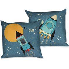 Διακοσμητικό Μαξιλάρι Παιδικό Space Blue Nef-Nef