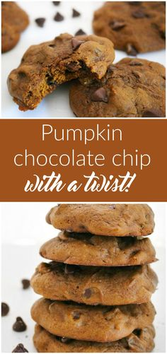 These pumpkin chocolate chip cookies are not like all the rest! We took two traditional recipes and combined them for this amazing cookie!