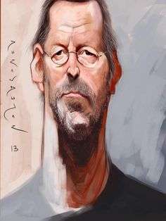 Caricatura de Eric Clapton.  Narcissistic prick but his music is good......
