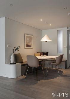 기초부터 튼튼하게 제대로 고친집- 위치 : 성남시 하대원동 자이아파트 (연식:2007년)- 면적 : 108.56m2 (3... Room Design Bedroom, Home Room Design, Dining Room Design, Home Interior Design, Interior Architecture, House Design, Apartment Interior, Apartment Design, Living Room Interior