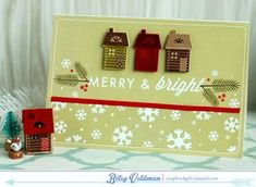 Merry & Bright Card by Betsy Veldman for Papertrey Ink (December 2014)