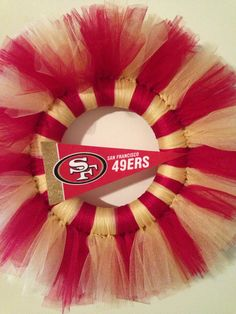 12' San Francisco 49ers Tulle Wreath by YBGCreations on Etsy