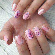 Cute Nails, Pretty Nails, My Nails, Square Oval Nails, Aqua Nails, Water Color Nails, Gel Nail Art Designs, Nail Designer, Modern Nails