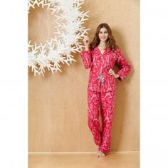 BedHead Rouge Eiffel Tower Classic Flannel Pajamas