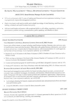 sample resumes resumewriters banking executive manager resume template free templates