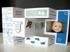 Faire part de naissance scrapbooking (photo 1)