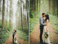 "A Romantic Elopement in the Woods: Laura + Nick ""We felt like Adam and Eve walking with God in the Garden of Eden."""