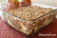 Apple Coconut Crisp - healthy dessert recipe