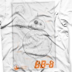 Blueprint Official Womens Star Wars VII BB-8 Astro Droid Fitted T-Shirt Tee