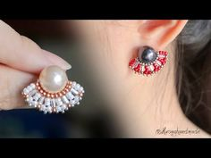 beaded earrings patterns how to make Bead Jewellery, Beaded Jewelry, Wire Jewelry, Jewelry Findings, Beaded Bracelets, Beading Tutorials, Beading Patterns, Diy Earrings Dangle, Diy Earrings Tutorial