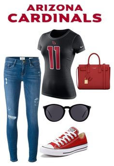 Arizona Cardinals Inspired Outfit #AZCardinals #NFLFanStyle #ColorRush