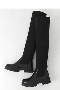 Knee Boots, Shoes, Black, Model, Products, Fashion, Moda, Zapatos, Shoes Outlet