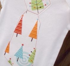 Baby Boy Christmas Tie Outfit Iron On Tie by sherbetwithsprinkles