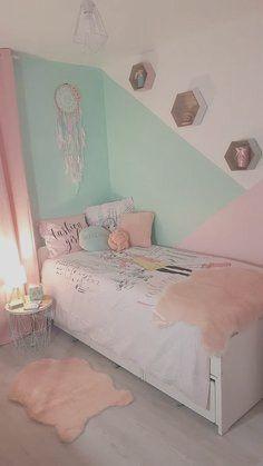 Small Room Bedroom, Room Ideas Bedroom, Girls Bedroom, Diy Bedroom, Modern Bedroom, Girly Bedroom Decor, Girls Room Paint, Girl Room, Kids Bedroom Paint
