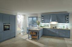 Häcker Classic/Art Bristol essenhout agaatblauw gelakt - Grando Keukens & Bad Zaandam