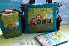 porta fraldas e bolsa de maternidade.... trabalho em parceria Ateliê Maria Sica e Atelier Da Nonna