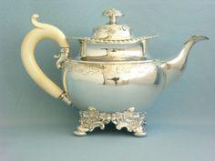 TEEKANNE, BIEDERMEIER, HAMBURG UM 1830/40,MEISTER BIELENBERG in Antiquitäten & Kunst, Silber, Silber, 800er- 925er | eBay