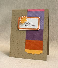 October Color Play - Celebrate Autumn Card by Lizzie Jones for Papertrey Ink (October 2013)
