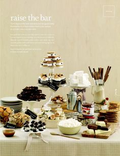 S'mores dessert table and other s'mores party ideas