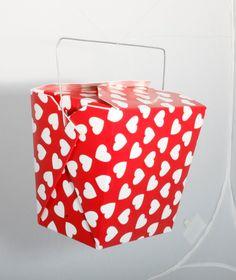Cajas de comida china para imprimir y armar: http://bit.ly/HDThCk #manualidades con cartón