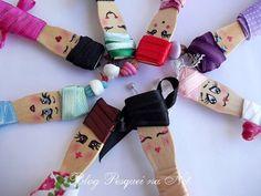 ! Pesquei na net !: Pintura de carinhas na pazinha de sorvete para organizar suas fitinhas