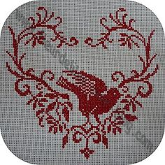 Bird. Free sewing pattern graph for cross stitch. http://storage.canalblog.com/66/12/620521/49936003.jpg