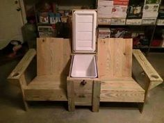 Lawn furniture with built-in ice chest