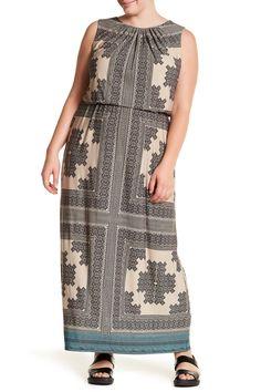 Blouson Maxi Dress (Plus Size)