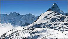 Ama Dablam and Makalu, Himalayas