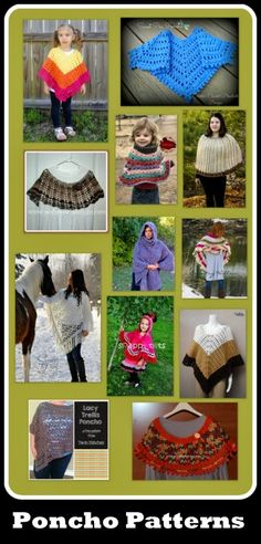 Posh Pooch Designs Dog Clothes: Ponchos Are All The Rage! Tuesday Treasury of Poncho Patterns | Posh Pooch Designs