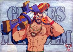 Super Pool party Graves +LoL+ by leomon32.deviantart.com on @DeviantArt