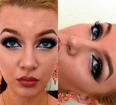 #KatarinaF #makeup #purple #cateyes #cat #eyes #mauve #lips #summer #blonde #tan #blue #eyes #highlight #lashes #pink