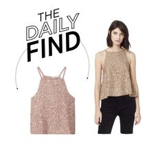 """""""Daily Find: Mango Sequin Top"""" by polyvore-editorial ❤ liked on Polyvore featuring MANGO and DailyFind"""